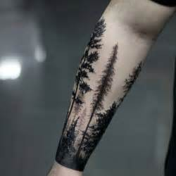tattoos on forearms for men 60 forearm tree designs for forest ink ideas