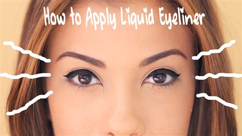 eyeliner tutorial for beginners liquid how to apply liquid eyeliner for beginners youtube
