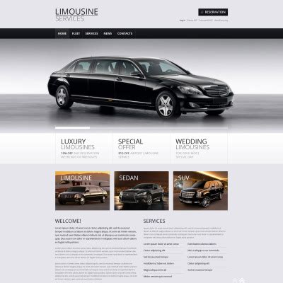 Limousine Services Templates Templatemonster Limousine Web Template