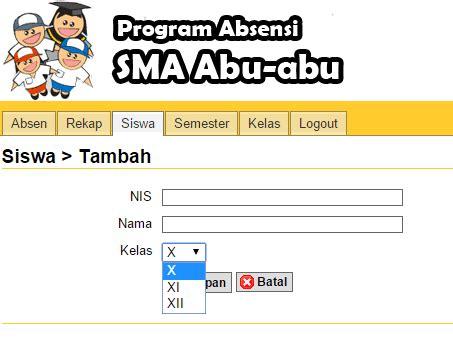 gratis absensi kehadiran siswa berbasis web dengan php gratis absensi kehadiran siswa berbasis web dengan php
