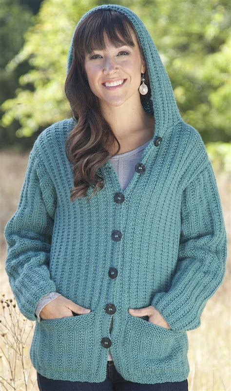 pattern hooded cardigan 767 best knitting for women images on pinterest knitting