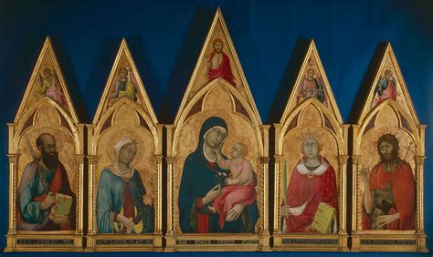 martini virgin virgin and child with saints boston polyptych 1325