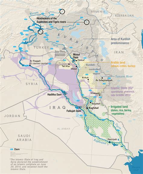 map of iraq rivers amid terror attacks iraq faces water crisis