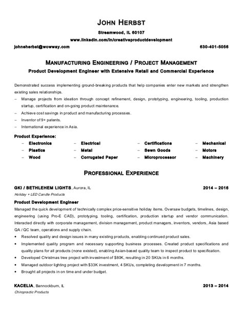 Manufacturing Resume by Manufacturing Engineer Resume Resume Ideas