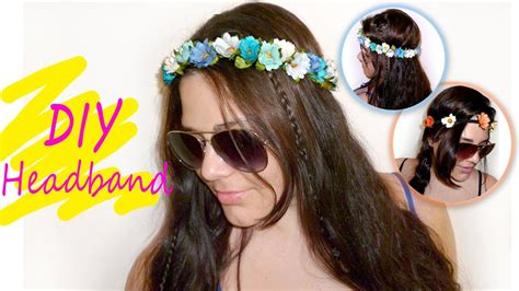 How To Make A Paper Headband - easy floral crown headband tutorial