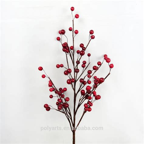 28 quot artificial red berry branch artificial tree branches