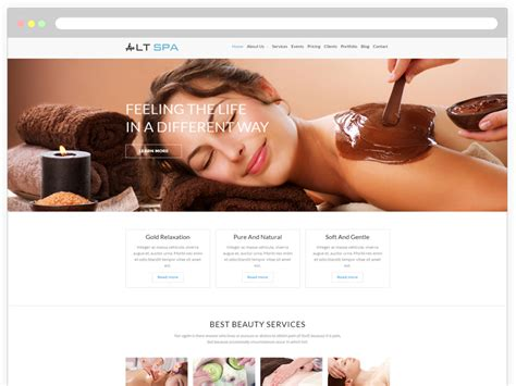 wordpress themes free hair salon lt spa onepage free beauty salon wordpress theme