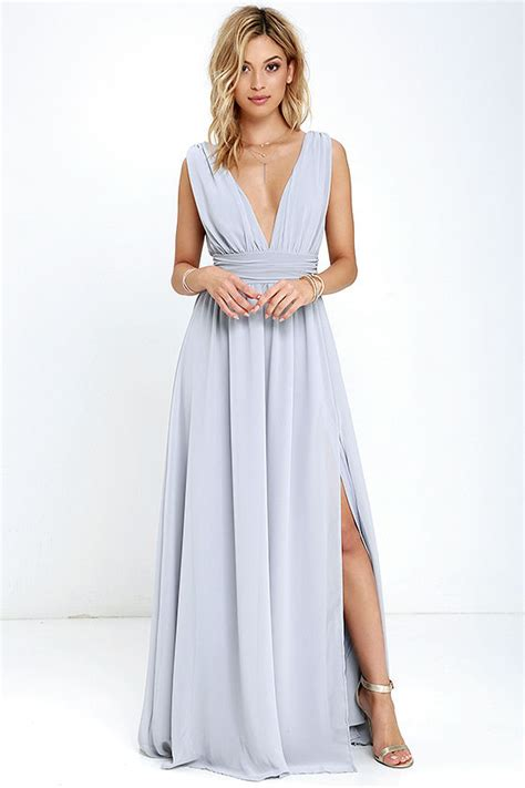lulu s light grey gown maxi dress sleeveless maxi 84 00