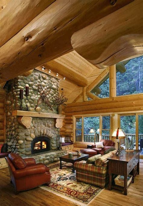 beautiful log cabin living rooms log cabin living room 2 gorgeous log cabin living room house ideas pinterest