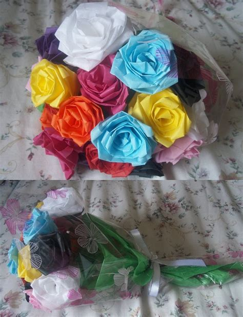 How To Make A Tissue Paper Flower Bouquet - tissue paper bouquet by ilyere on deviantart