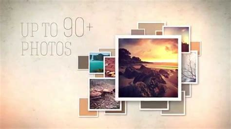slideshow video display ae template with retro styled