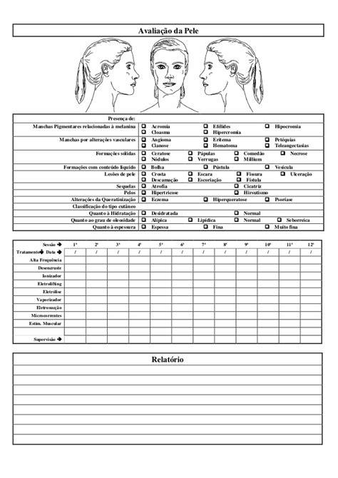 Ficha de anamnese facial