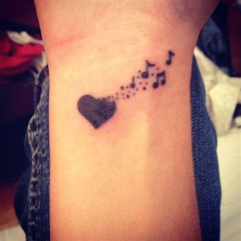 heart music note tattoo best 25 tattoos ideas on note