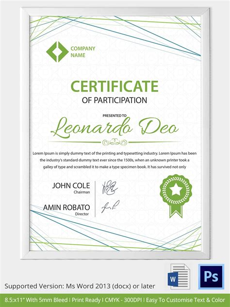 33 Psd Certificate Templates Free Psd Format Download Free Premium Templates Certificate Template