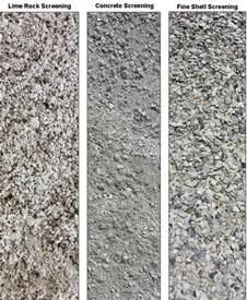 screenings paver base material carroll s building