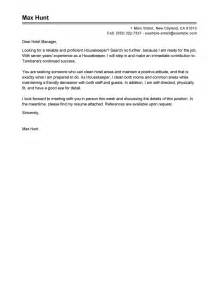 housekeeper cover letter leading professional housekeeper cover letter exles