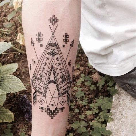geometric tattoo indian emrah 214 zhan http instagram com emrahozhan tattoo