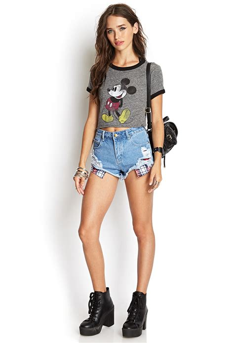 Ee Zara Blouse Rumbai 1 forever 21 heathered mickey mouse in gray lyst