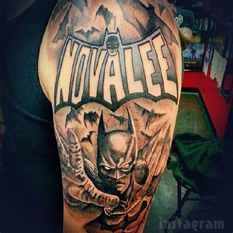 photo tyler baltierra s novalee batman sleeve tattoo