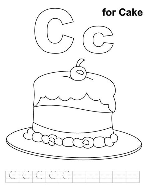 letter c coloring pages for preschoolers free images
