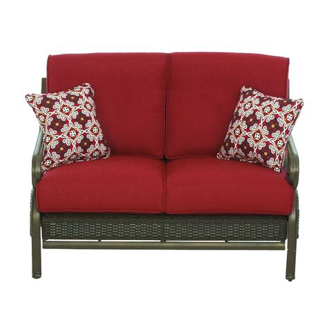 patio furniture loveseat martha stewart living cedar island all weather wicker