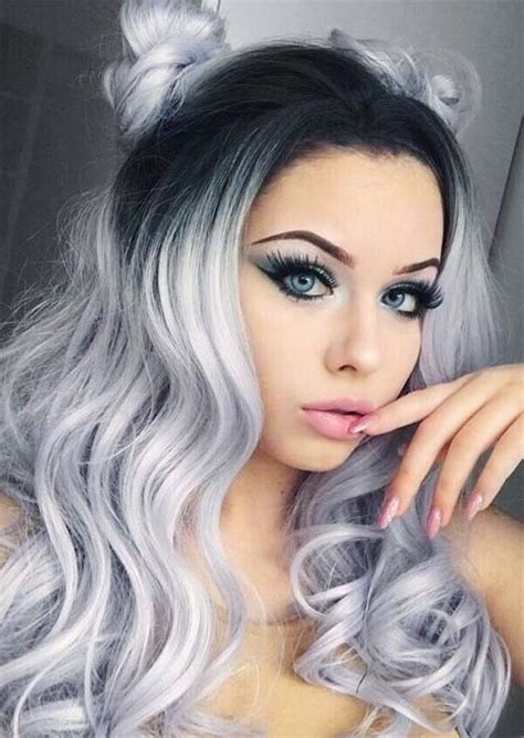 see models with sheik gray colo hair styles silver hair trend 51 cool grey hair colors tips for