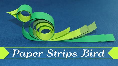 craft with paper strips paper bird crafts how to make a bird with paper