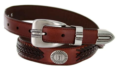 2662500 pga tour s braided leather golf conchos belt