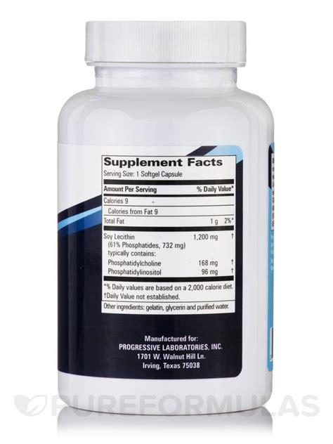 Detox Lecithin by Lecithin 1200 Mg 100 Softgels Capsules