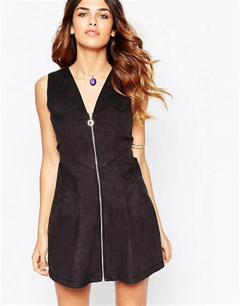 Ivj Dress asos asos suedette a line dress