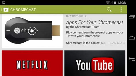 chromecast app for android cult of android now showcasing chromecast compatible apps on play cult of android
