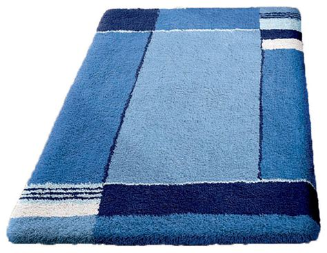 Navy Bathroom Rugs Navy Blue Non Slip Washable Bathroom Rug Contemporary Bath Mats By Vita Futura