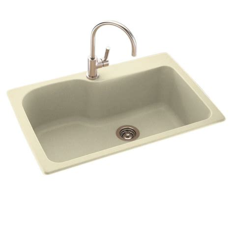 home depot kitchen sinks drop in swan drop in undermount composite 33 in 1 hole single
