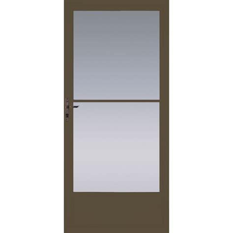 sliding door screens brown shop pella brown mid view tempered glass retractable