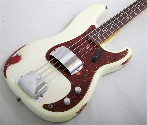 White P fender custom shop 59 precision bass relic olympic white