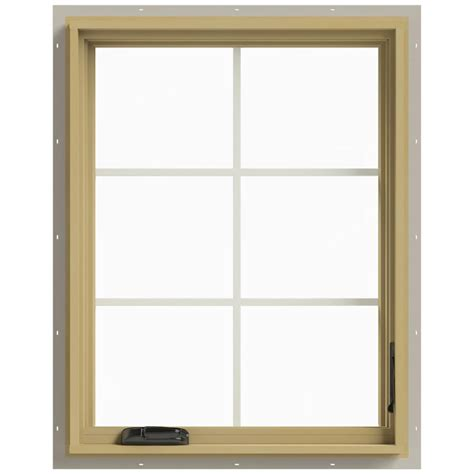 Jeld Wen Aluminum Clad Wood Windows Decor Jeld Wen 28 In X 36 In W 2500 Right Casement Aluminum Clad Wood Window Thdjw140100393