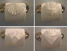 Toilet Paper Origami Book - toilet paper origami book
