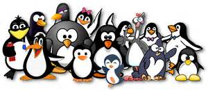 Shower Curtain Tracks by Clipart Penguins Just Love Openclipart