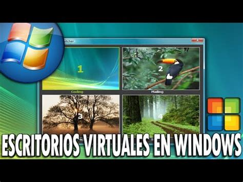 escritorios virtuales windows 7 como tener escritorios virtuales en windows 7 8 youtube
