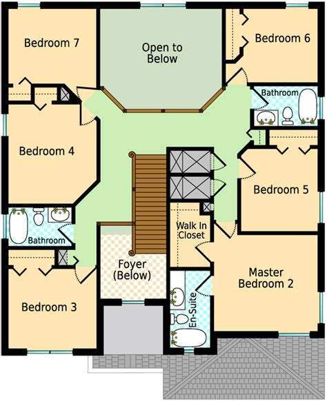 Graceland Floor Plan by Emerald Island Orlando Villa Floor Plan