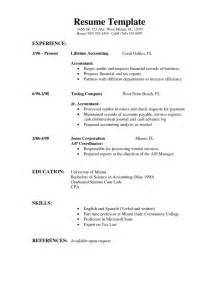 Resume Sample Format Simple by Sample Resume Format Simple Resume Template Download
