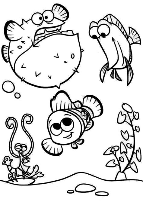 baby puffer fish coloring pages coloring pages