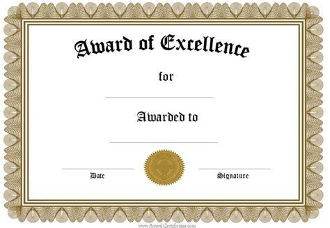 5 award certificates templates certificate templates