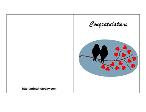 Congratulations Wedding Card Template Free Printable Wedding Congratulations Cards