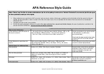 apa format guide pdf list of references apa winter 2012 thornlea sharpschool
