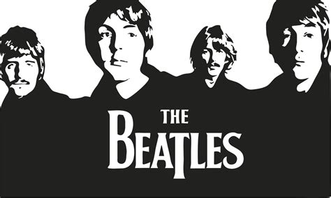 imagenes en blanco y negro de los beatles decora con vinilo the beatles