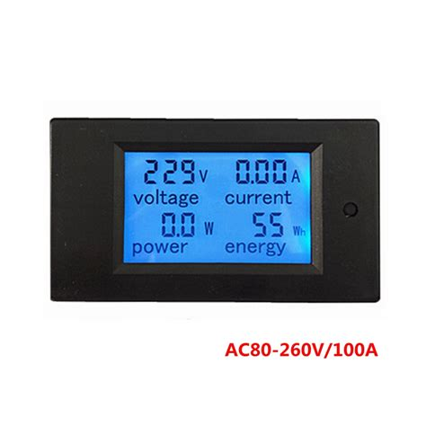 Ac Multifunction Voltmeter Meter Energy Power Monitor Ac 80 260 100a aliexpress buy ac 80 260v 100a digital ac ammeter