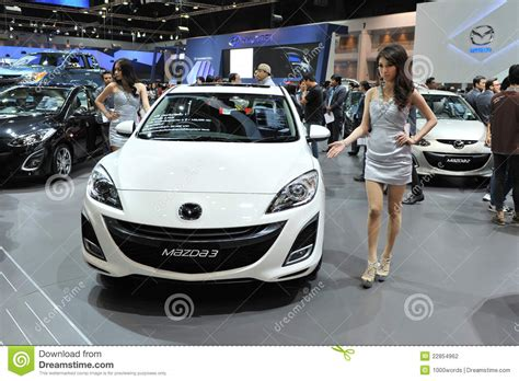 moto mazda mazda 3 on display at a motor editorial photography