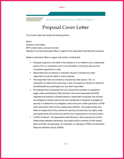 Cover Letter For Grant Sample Proposal Template