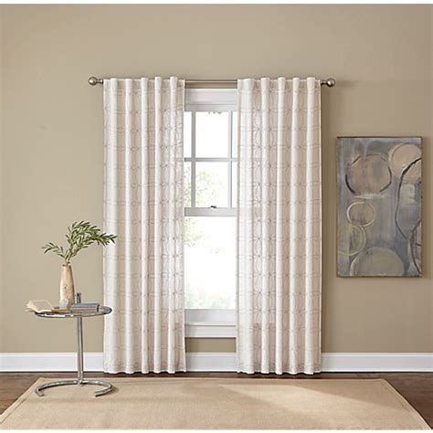 bed bath and beyond curtain panels cambria 174 santorini rod pocket back tab window curtain